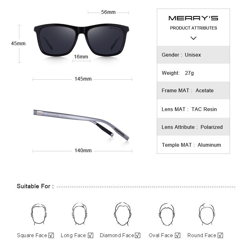 MERRYS Unisex Retro Aluminium Sonnenbrille Polarisierte Linse Vintage - Bekleidungszubehör - Foto 4