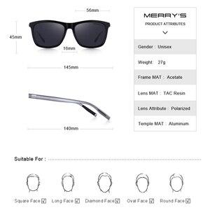 Image 4 - MERRYS Unisex Retro alüminyum güneş gözlüğü polarize Lens Vintage güneş gözlüğü erkekler için/kadın S8286