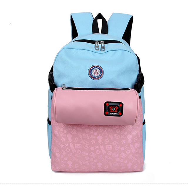 2015 Cute canvas backpacks for teenage girls Women s Canvas Backpacks jan  sport Backpack school bag Teenagers Casual Rucksack cf6b7b4346662