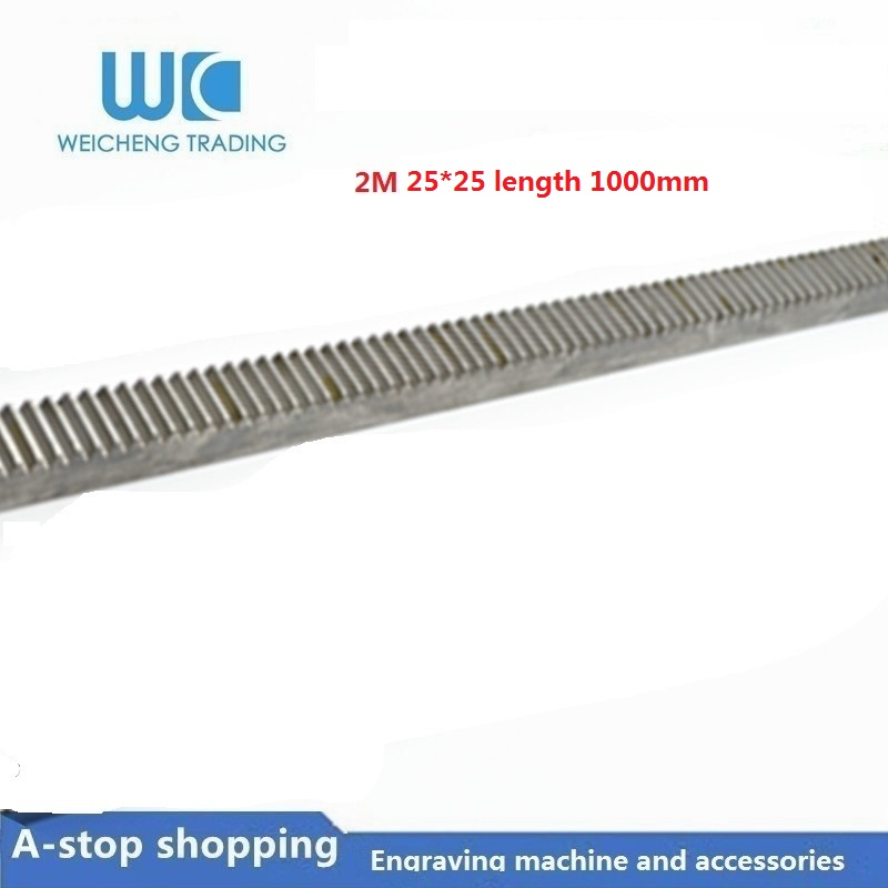 1pc Mod2 25*25 length 1000mm 2.0Mod Straight Toothed Spur Gear Rack CNC Zipper1pc Mod2 25*25 length 1000mm 2.0Mod Straight Toothed Spur Gear Rack CNC Zipper