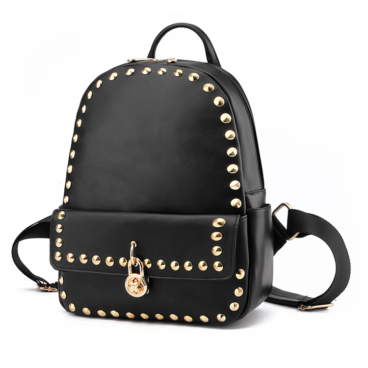 Women Girls Studded Backpacks Mini Travel Rucksack Ladies Handbags School Bag
