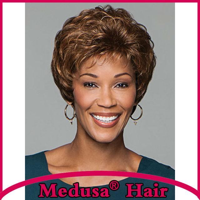Медуза продукты волос: бесплатная доставка Синтетический пастельные парики для женщин Короткий шевелюру стили вьющиеся Смешивать цвета парик с челкой SW0092B