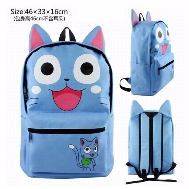 Fairy Tail Happy Cat Cartoon Character Backpack