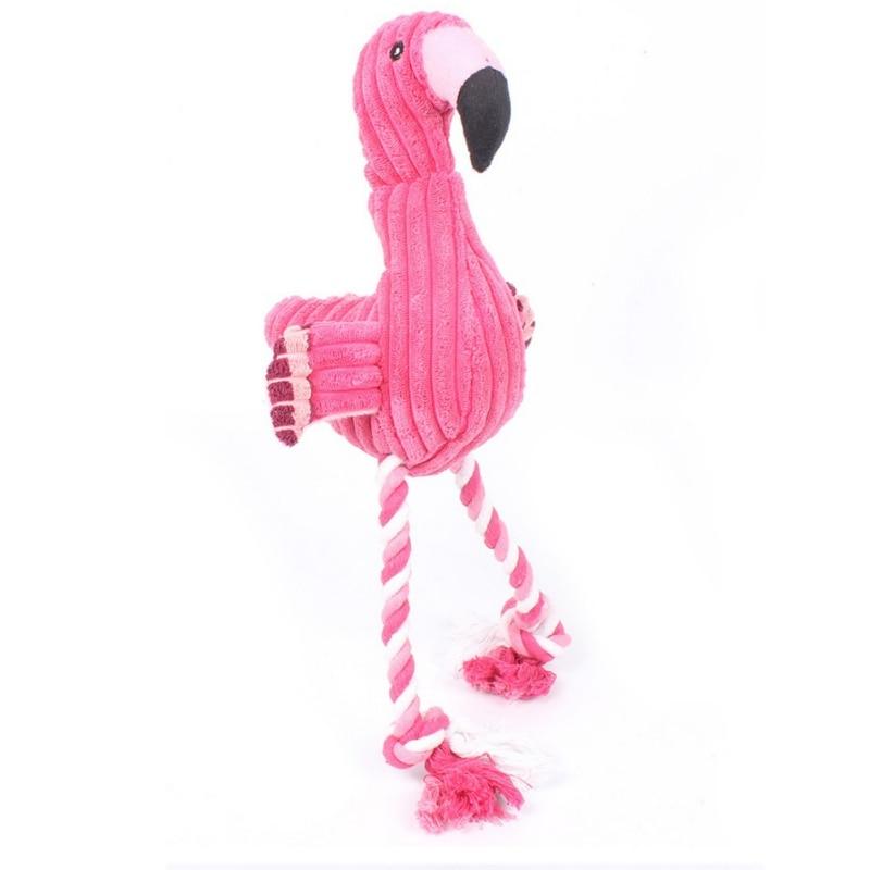 Pet укус Чу игрушки Плюшевые Звук Собака Игрушка Фламинго Товары для собак