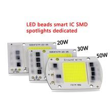 AC LED COB Chip 50W 40W 30W 20W 10W AC 220V 110V No need driver Smart IC bulb lamp For DIY LED Floodlight Spotlight