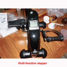 Mini multifunctional indoor indoor cycling bike stepper for the aged Exercise bike with electronic meter  Maximum load 100kg