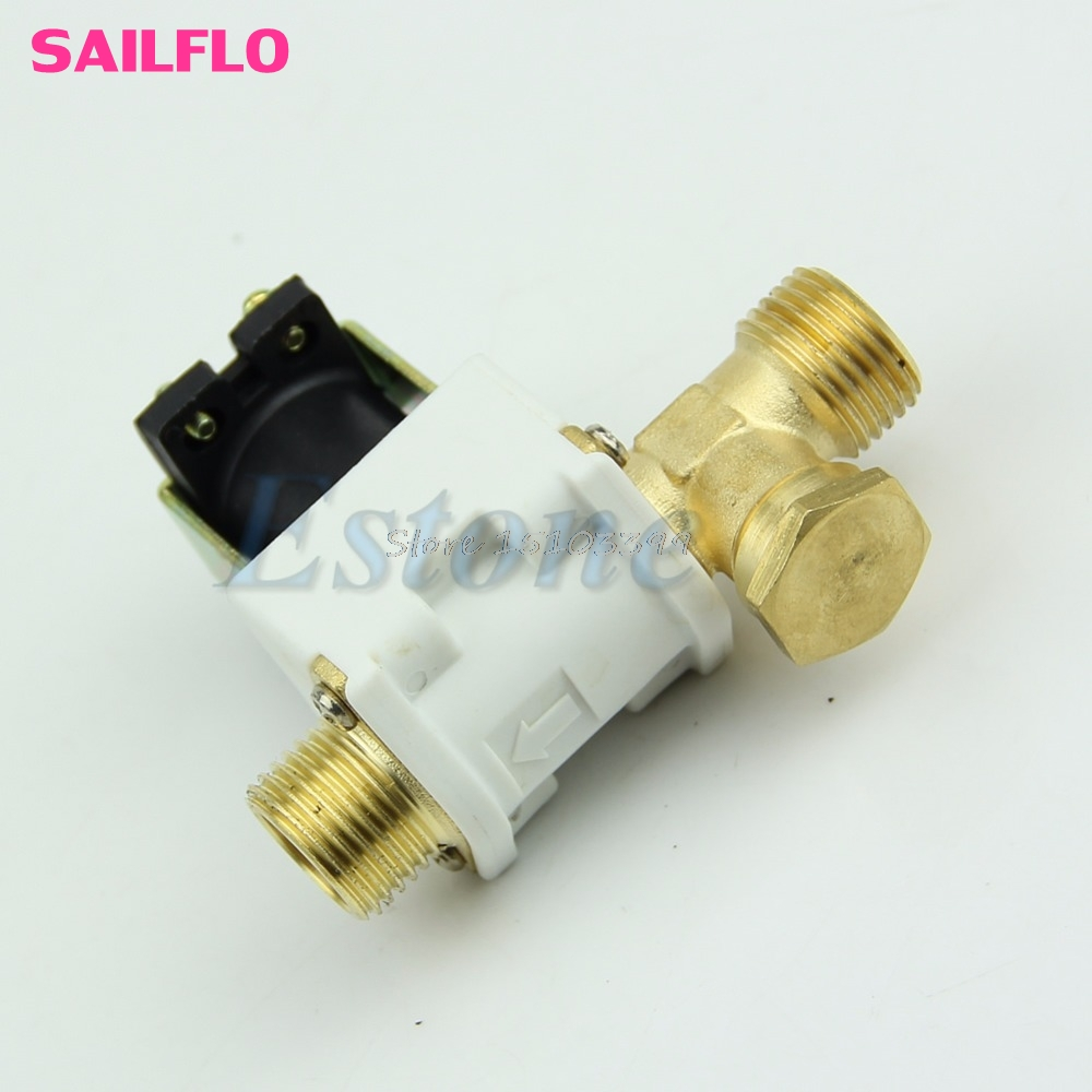 1/2 Electric Solenoid Valve For Water Air N/C Normally Closed DC 12V New G08 Drop ship new rotation solenoid valve kwe5k 31 g24ya50 for excavator sk200 6e