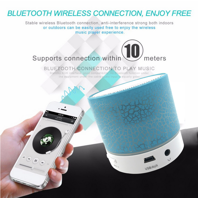 Mini Wireless Bluetooth Speaker Support TF FM Speakers For Phone Musical Audio Hand-free Subwoofer Loudspeakers With Mic