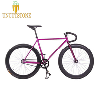 Magnesium Alloy Wheel 60mm rim fixie Bicycle, Fixed gear bike 700C *23 70mm Rim 52cm FRAME DIY BIKE Complete Road Bike