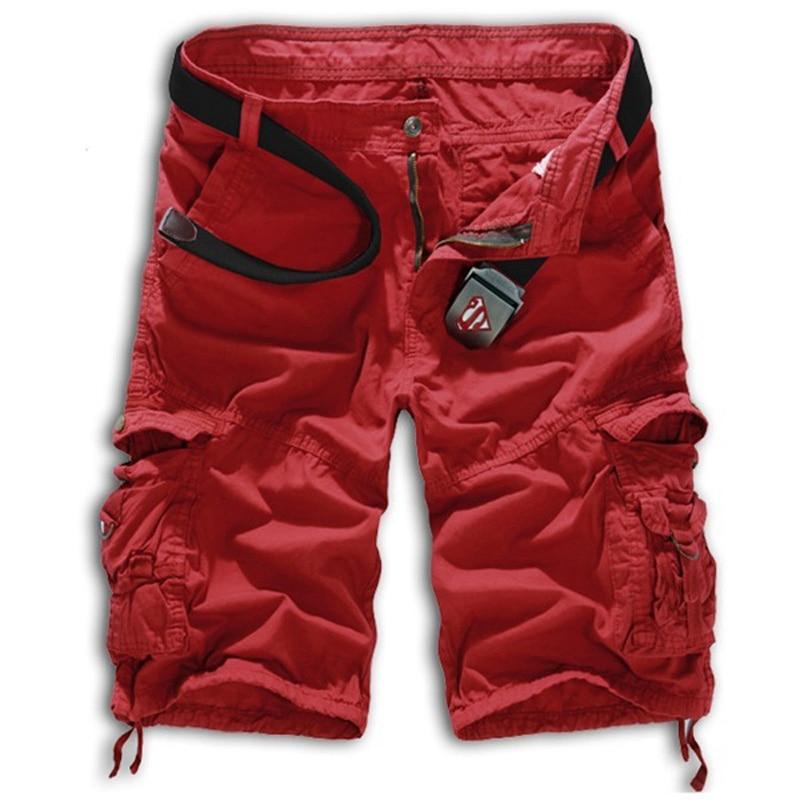 Men Army Military Cargo Shorts 2017 Fashion Casual Loose Men Shorts No Belt Shorts Men Camouflage