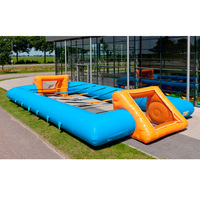 Hot sale inflatable football pitch/inflatable soccer field/inflatable soccer court with blower