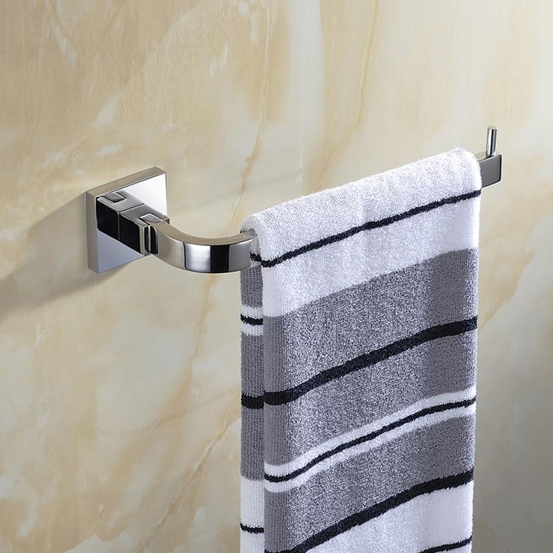 SUS 304 Stainless Steel Towel Bar Single Silver Towel Holder Towel Bar Smooth Mirror Towel Rack Bathroom Products AU51