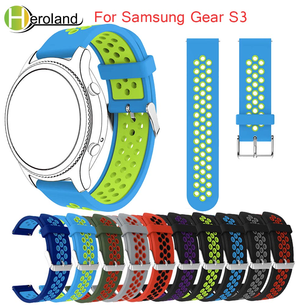 sport silicone watch strap for samsung gear s3 Frontier/Classic M-R760 SM-R770 band bracelet replacement smart watch wristbands joyozy 22mm sports silicone watch bands strap for samsung galaxy gear s3 classic sm r770 s3 frontier galaxy smart watch band