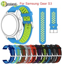 hot deal buy sport silicone watch strap for samsung gear s3 frontier/classic m-r760 sm-r770 band bracelet replacement smart watch wristbands