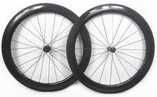 Best qulity 700C width 25mm chinese carbon road bike clincher wheels 60mm with DT 240s hub sapim spokes
