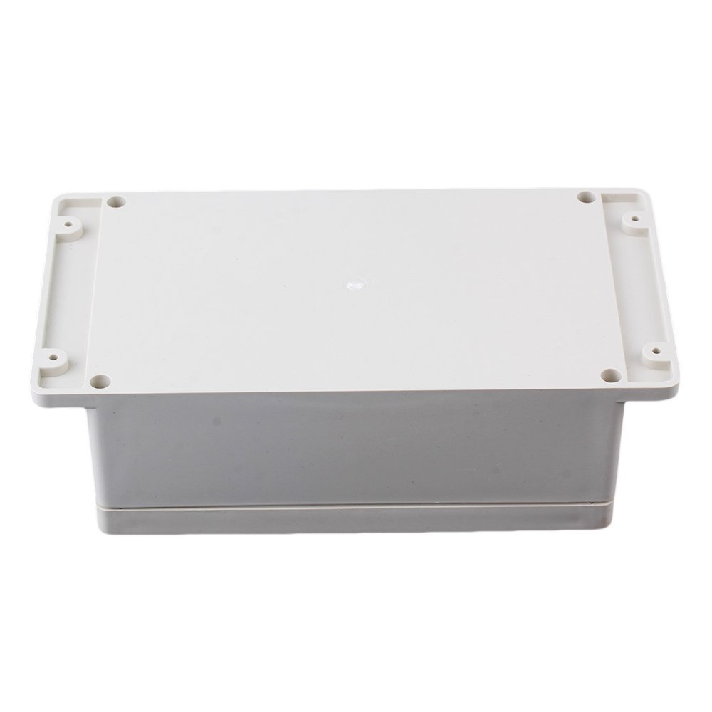 240 x 120 x 75mm White Gray Waterproof IP65 Plastic Electrical Terminal Junction Project Box lixf waterproof wall mounted plastic junction project box 115 x 90 x 55mm