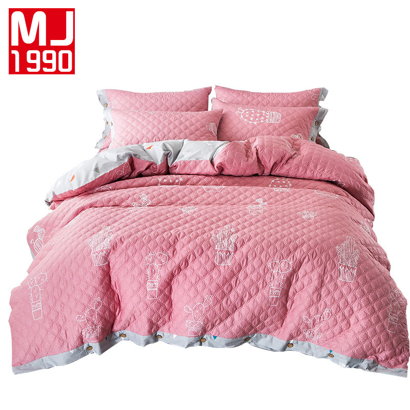 100% Cotton Quilted Bedding Set Simple and Stylish Quilt Pillow Cover Quilted Mattress Cover King Size High Quality100% Cotton Quilted Bedding Set Simple and Stylish Quilt Pillow Cover Quilted Mattress Cover King Size High Quality