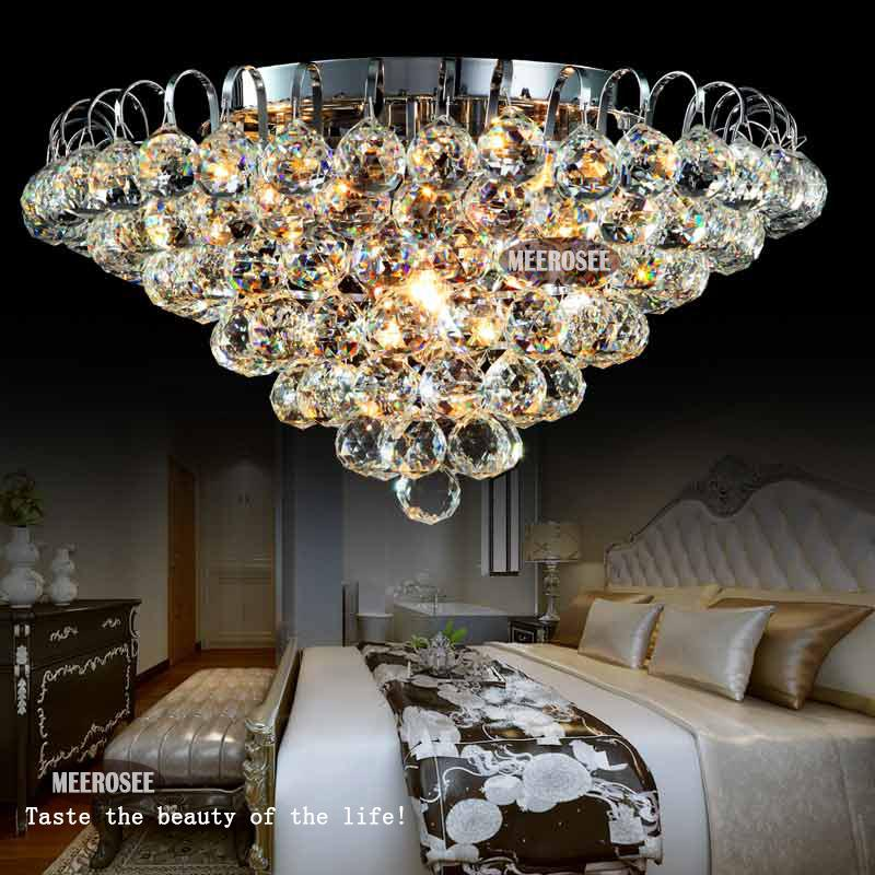 Hot 20 inch crystal ceiling lights crystal lamp round crystal light 20 inch crystal ceiling lights crystal lamp round crystal light fixture lustres de sala silver or gold fast shipping d500mm in ceiling lights from lights aloadofball Image collections