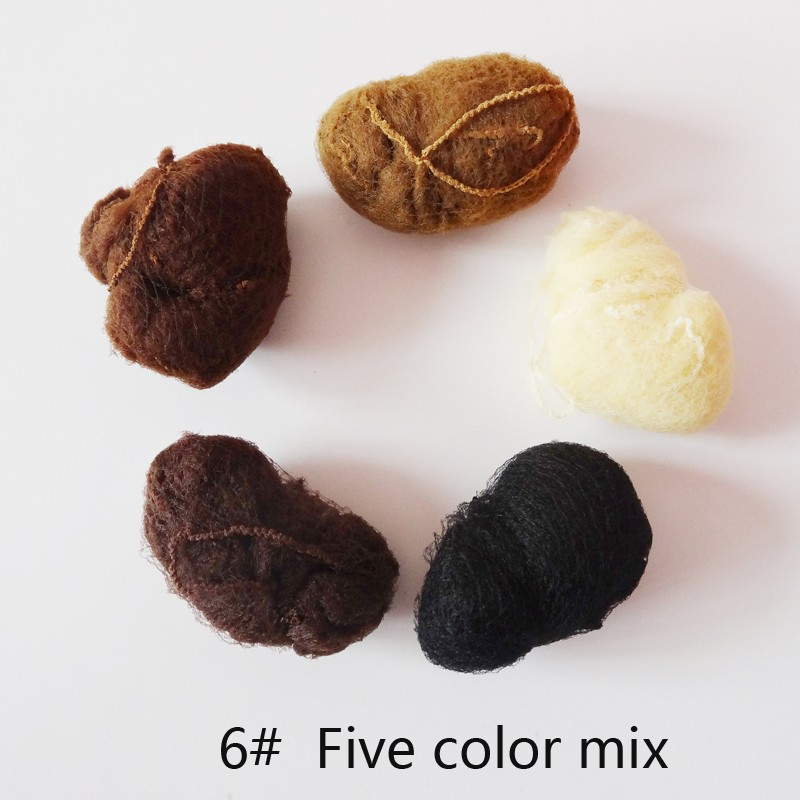 50pcs/20pcs Sample Order Five Colors Nylon Hairnets Black Brown Coffee Color Invisible Soft Elastic Lines Hair Net 1