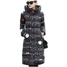 2016 Новый Зима Женщины Тонкий Ватник Длинные Утепление Толстые Капюшоном Ватник Пальто Женщин Парка LH404