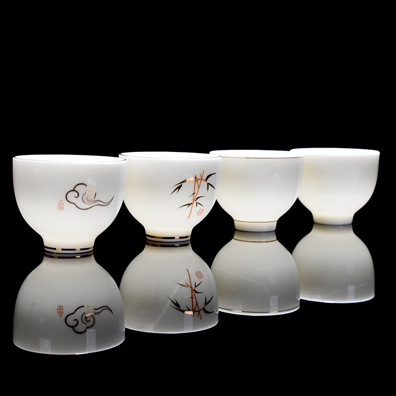 Premium Handpainted Ceramic Gong Fu Tea Cups Set