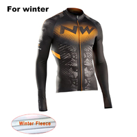 2017 NW Pro Team New Men S Winter Thermal Fleece Bicycle Jersey Long Sleeve Warm MTB