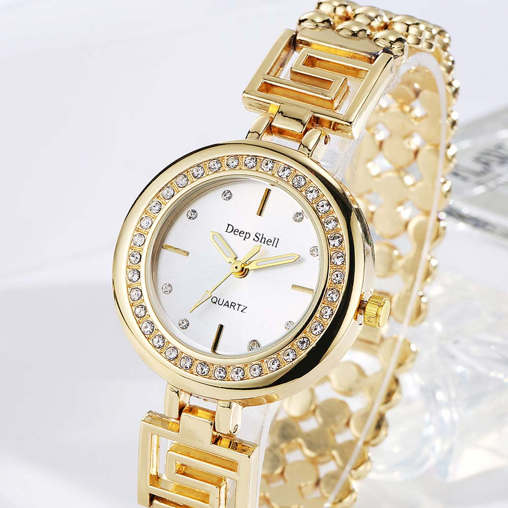 Fashion Casual Simple And Elegant Steel Band  Watch Quartz Bracelet Watch DP020 christmas gifts Quartz Movement Gold L friendship gifts birthday gifts fw819e rose gold band white dial ladies elegant alexis brand crystal bracelet watch gifts box