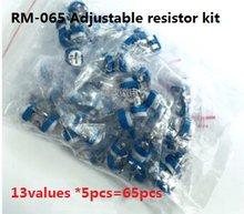 Valores * 5pcs = 13 65pcs RM-065 pacote potenciômetro ajustável resistor kit SET 100R-1M 1K 102 103 k 104 100k 101 100R 10 201 200R 501