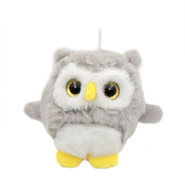 "4"" Small Kawaii Owl Big Eyes Bird Plush Toys Stuffed"