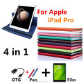 "360 Ultra Slim Cover for Apple iPad pro Smart Case for ipadpro 12.9"" Retina Original Crocodile Tablet Stand Cases pen+OTG+Film"