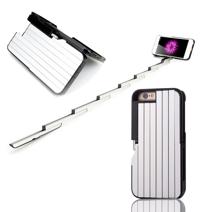 3 in 1 Selfie Stick Case for iPhone 6 6S Multifunction Foldable Extendable Aluminum Cover 6S 6 S With Bluetooth Remote Shutter