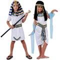 Disfraces de halloween boy girl antiguo egipto faraón egipcio cleopatra prince princesa traje para niños cosplay ropa