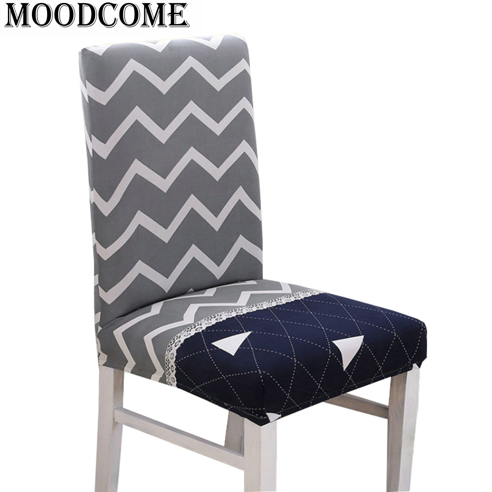 Wave Chair Cover For Kitchen Wholesale Trangle Printed