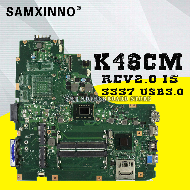 S46C i5-3337 for ASUS K46CA K46C K46CB <font><b>K46CM</b></font> laptop motherboard new motherboard rev2.0 USB3.0 K46CB 100% tested mainboard image