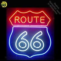 Route 66 네온 사인 도로 네온 리얼 글라스 튜브 네온 라이트 레크 리 에이션 스포츠 windows professiona 아이코닉 사인 광고 모텔 사인