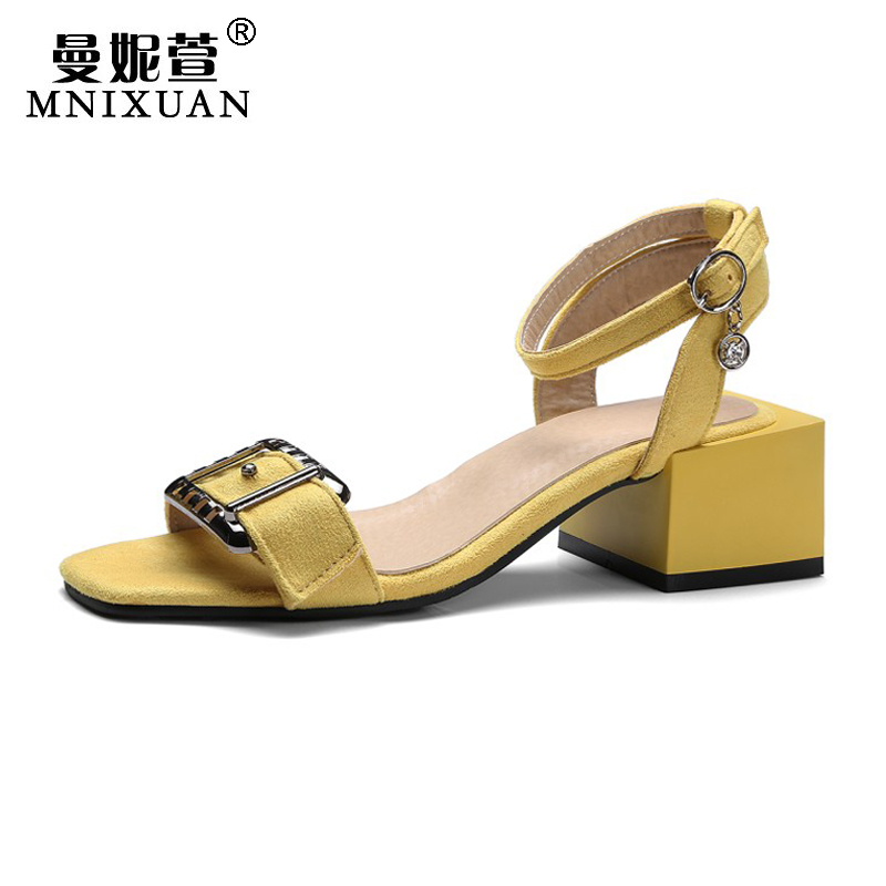 Gladiator sandals women 2017 summer high heels new fashion square heel open toe ankle strap solid ladies shoes big size 34-43 plus size 33 43 new women sandals square thin heel summer ankle strap woman shoes red ladies fashion gladiator party pumps shoes