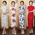 2017 new hot sell women sexy long cheongsam novelty chinese style qipao dress silk chinese vintage silm women cheongsams