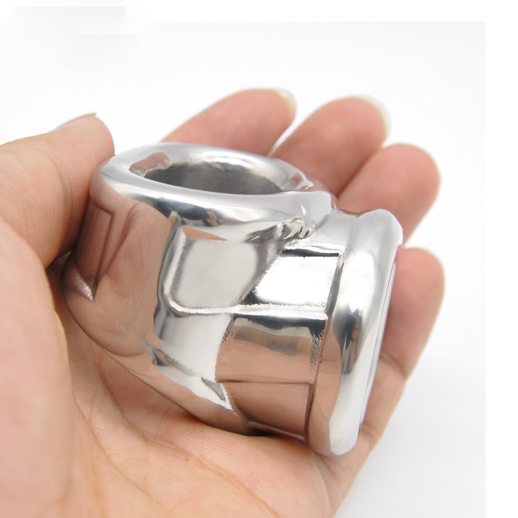 Buy Stainless steel cock ring metal penis ring cockring ballstretcher cock sleeve delay ejaculating adult toys ring man