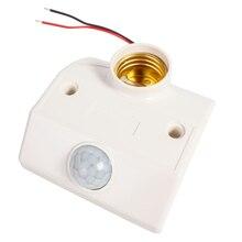 LightInBox Wall Lamp 80W E27 Holder Socket  LED Bulb Light E27 Base Automatic Body Infrared IR Sensor PIR Motion Detector