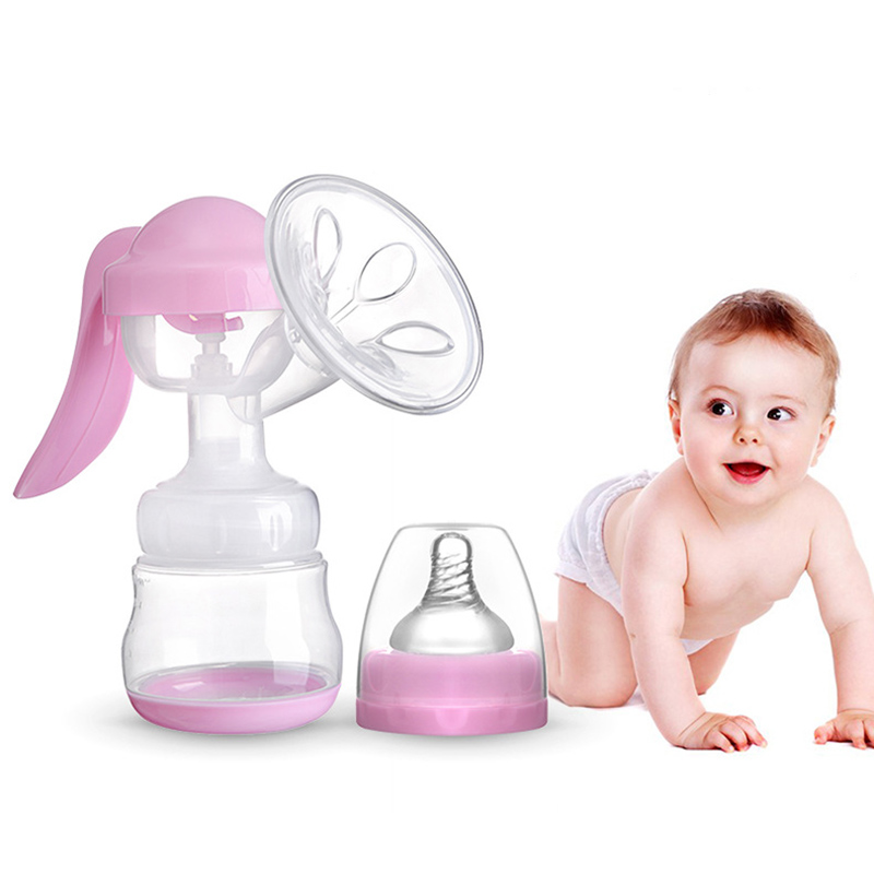 Manual Breast Pump Powerful Baby Nipple Suction 150ml Milk Infant Feeding Bottles BPA Free Silicone Beasts Pumps Sucking CL5573