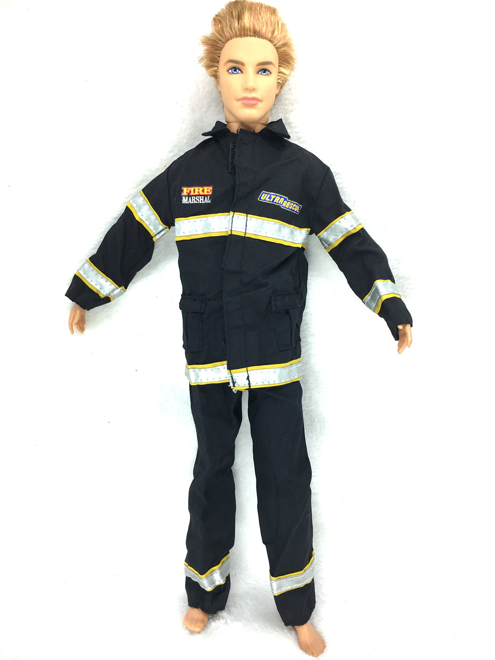 все цены на NK Original Doll Prince Clothes Firemen Combat Uniform Outfit For Barbie Boy Male  Ken Doll For Lanard  1/6 Soldier  Best Gift онлайн