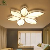 Modern Flower Luminaria Led Ceiling Light Matte White Metal Mounted Ceiling Lamp Dimmable Lighting Fixture For Foyer