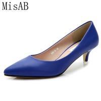 2016 Magazine Fashion Women Pumps 5cm Sheepskin Women Shoes Heels Pointed Toe Comfortable High Quality Office
