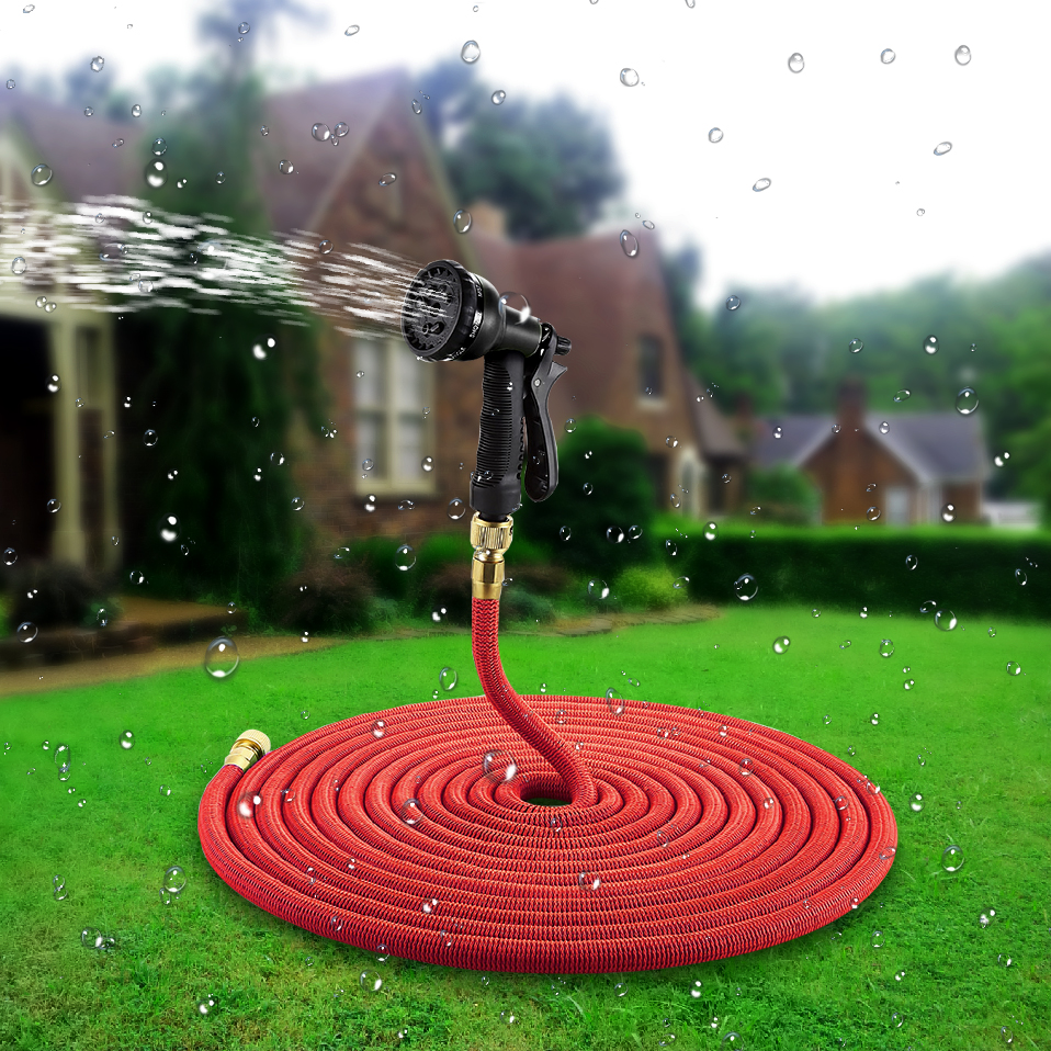 25 100 Ft Expandable Garden Hose Magic Flexible Watering Hose With Spray Nozzle In Garden Hoses