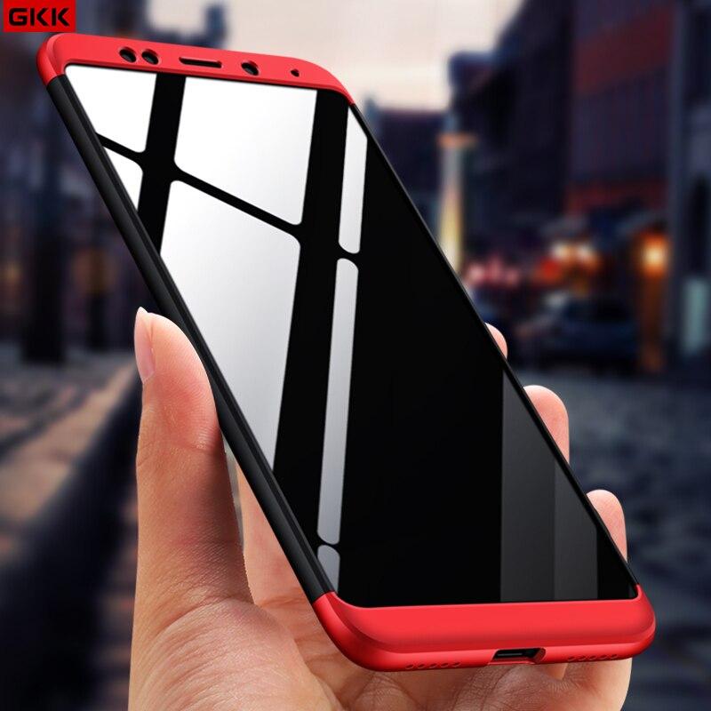 GKK Fall Für Xiaomi Redmi 5 plus Fall 360 Grad Vollen Schutz Matte Harte PC 3 in 1 Rückseitige Abdeckung für Redmi 5 Fundas Couque