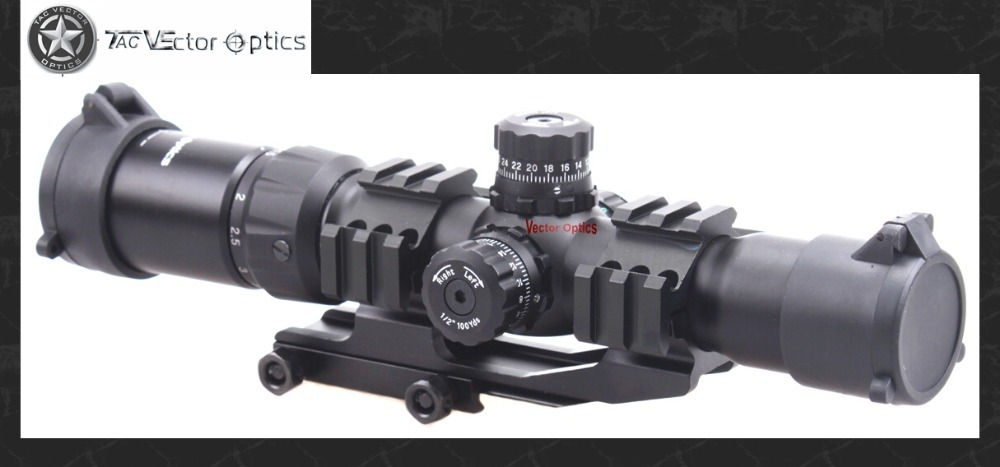 Vector Optics Tactical Mustang 1.5-4x30 Shooting Rifle Scope Chevron Reticle with Offset Weaver Mount Ring fit AR15 .223 5.56mm цена и фото