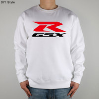 GSX RED R SUZUKI MOTOCYCLE Sweatshirts Thick Combed Cotton
