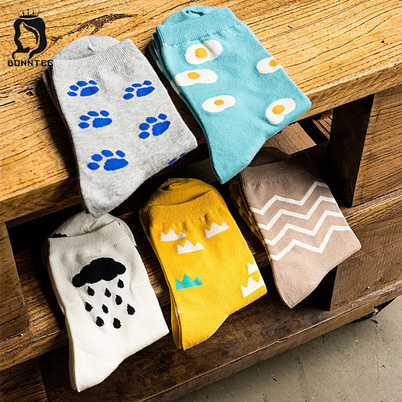 Breathable Cotton Women Winter Funny   Socks   Female High Elasticity Solid Colorful Womens Cute   Sock   Fashion Females Korean Style