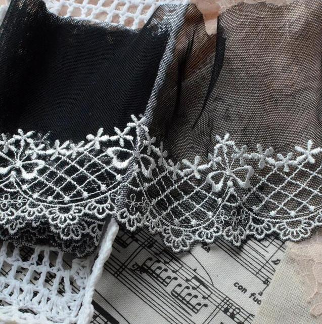 Hot sale 5 meters polyester lace trim embroidered lace venice floral hot sale 5 meters polyester lace trim embroidered lace venice floral scallop bridal lace wedding decor junglespirit Gallery