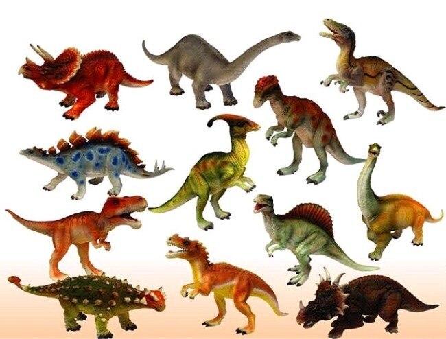 genuine simulation of large dinosaur model dinosaur toys 12pcsset 15 18 cm